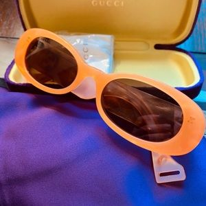 Authentic GUCCI 52 Oval acetate logo Sunglasses